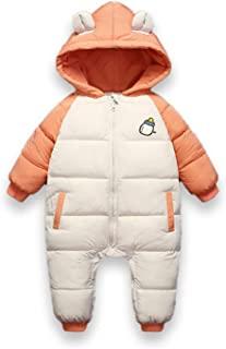 婴儿棉质连衫裤幼儿保暖冬季外套厚拉链防风雪服