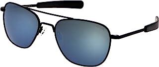 Randolph 哑光黑色经典飞行员太阳镜男女通用,* UV