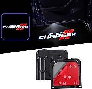 道奇所有型号门灯汽车欢迎灯,2 件,适用于道奇复仇者充电器Magnum Challenger (标志 02 充电器)