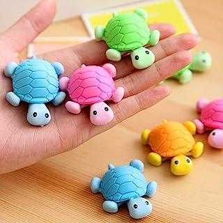 DDJYP 12 件海龟铅笔橡皮擦,可爱有趣的新奇乌龟铅笔橡皮擦儿童礼品玩具派对用品礼品