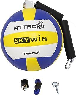 Skywin 排球钉训练器 - 排球训练设备改善钉刺、上菜和手臂挥杆 - 可轻松连接到篮球目标、天花板、高钩子