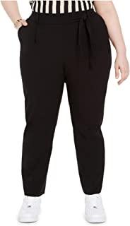 Bar III 女士加大码系带腰套式及踝裤