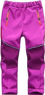 M2C 男孩女孩羊毛衬里软壳防水徒步裤