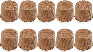 Hemoton 10 件瓶塞替换木软木塞*真空瓶盖水壶隔热锅塞零件适用于家庭厨房 4x3.9 厘米