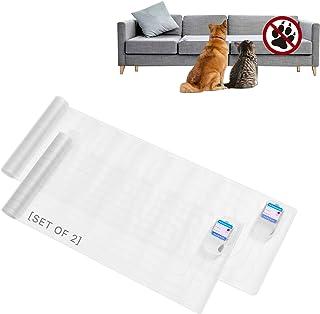 SEERWAY {2 件} Scat 宠物减震垫 室内 - 152.4 厘米 x 30.5 厘米*,*减震训练垫,适合狗狗或猫咪,电动驱赶垫可让宠物远离沙发、沙发、计数器、3 种模式、电池供电