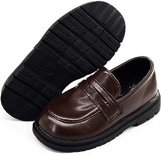 TIMATEGO 男童女童乐福鞋合成皮革一脚蹬学步儿童学步儿童礼服平底鞋(幼儿/小童)