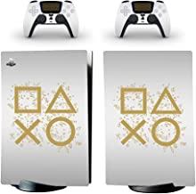 全身保护乙烯基皮肤贴花保护套适用于索尼 PS5 Playstation 5 控制台包裹贴纸皮肤,带两个无线双感控制器贴花(数字版,9)