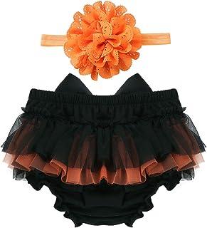 Venjoe 婴儿女孩荷叶边开衫裙尿布套带花朵头带套装适用于摄影道具婴儿淋浴