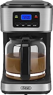 咖啡机,12 杯可编程咖啡机,迷你咖啡机,带自动关闭和保温板,黑色