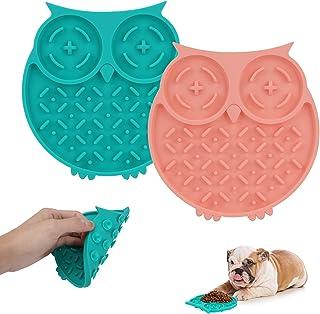 Mystery Dog Lick Pad 带吸盘,2 件装狗狗舔便垫,适合*、鼻烟垫和慢喂食器,狗狗无聊和*,减少宠物洗澡、*和狗狗训练用垫
