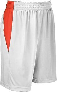 CHAMPRO Block 涤纶篮球运动衫,女式 3XL 码,白色,橙色