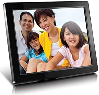 "Aluratek (ADMPF512F) 12"" Hi-Res Digital Photo Frame with 4GB Built-In Memory and Remote (800 x 600 Resolution), Photo/Musi..."