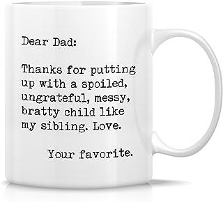 Retreez 趣味马克杯 - 尊敬的爸爸:感谢您向小孩投掷。 您*喜欢的 325.24ml 陶瓷咖啡杯 - 趣味、沙丽克姆,励志生日礼物送给爸爸爸、父亲节礼物