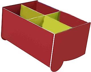Paperflow 落地式 4 节图书浏览器,红色/*,倾斜,小号