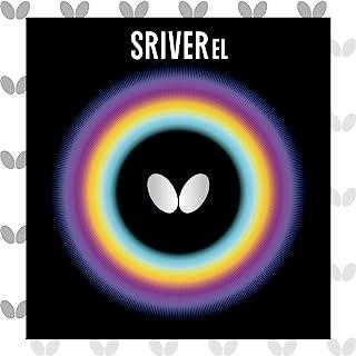 Butterfly 蝴蝶 乒乓球 胶皮 SRIVER EL 反胶 高弹性 05380 黑色 TA(トクアツ)