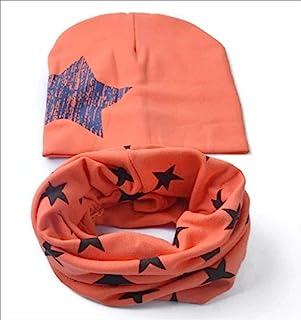 micia luxury 2件套 儿童 棉质围脖 big star orange