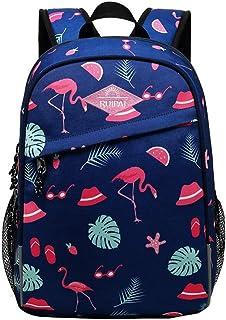Bansusu 幼儿学校背包书包适用于学龄前女孩男孩帆布书包 丹顶鹤 中