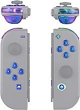 eXtremeRate 7 种颜色 9 种模式 NS Joycon DFS LED 套装,多色发光变色龙紫色蓝色经典符号 ABXY 触发面按钮 适用于 Nintendo Switch Joy-Con 控制器 - 不包括 Joycon