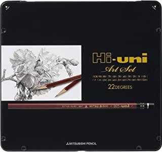 Uni Hi-Uni 木制铅笔艺术套装 - 10B 至 10H - 22 盒 (HUAS)