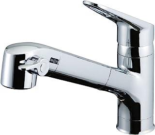 Lixil ( 骊住 ) INAX 厨房用支架带内置净水器净水单把手混合水龙头环保把手微细花洒软管 RJF 整流 - 771y