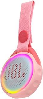 JBL JR Pop 迷你盒子 粉色 – 罂粟花,防水蓝牙扬声器,带内置灯光图案JBLJRPOPPIK