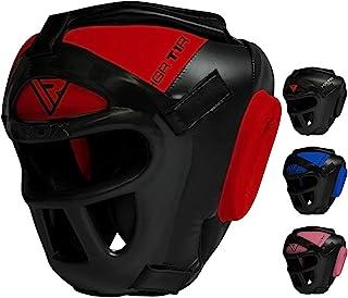RDX Maya HIDE 皮革拳击 MMA 保护头套 UFC 战斗 HEAD 护具拳击头盔
