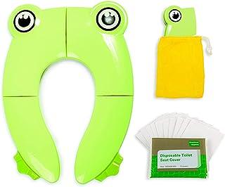 儿童防滑可折叠马桶坐垫,带可冲洗纸座套,适用于如厕训练和旅行,便携式休息室防** *