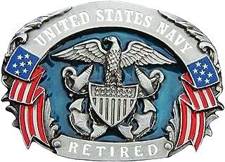 美国*退休军事徽章皮带扣