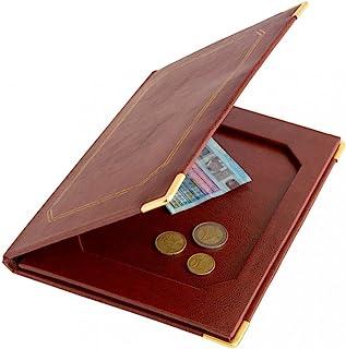 Garcia de Pou Leather Bill Presenter Retainenter 22.8 x 17 x 2 厘米,红色,均码