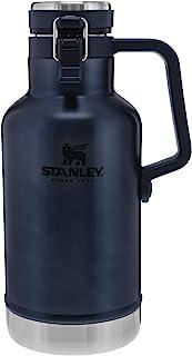 Stanley 史丹利 经典易倾倒花盆,64 盎司(约 1.9 千克),保温啤酒保温杯保持啤酒冷却和碳酸,不锈钢内部,耐用外部涂层和防漏盖,携带方便