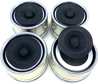 MHYYT 替换拖车轴防尘盖杯油脂盖和插头 RV Camper Utility 1.98 英寸(4 件装)