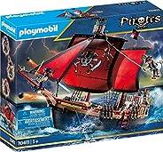 PLAYMOBIL 海盗 70411 骷髅头战斗船 5 岁以上