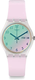 Swatch 中性成人模拟石英手表硅胶表带 GE714