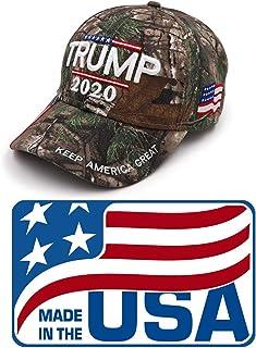 Mersinni Trump 2020 MAGA 迷彩刺绣帽 Keep Make America Great Again 帽 美国制造