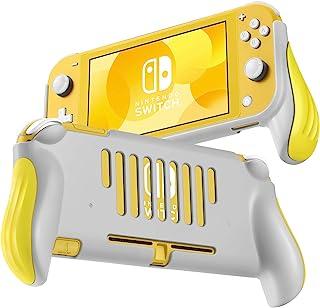 TNP Pro Grip 保护套适用于任天堂 Switch Lite 保护套(黄色)透气舒适增强人体工程学握把,轻巧,纤薄,划痕和减震保护套 Nintendo Switch Lite 配件