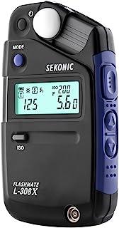 Sekonic FLASHMATE L-308X 摄影师和电影制作机曝光计 - 黑色/蓝色