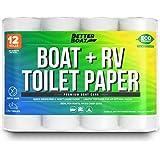 船和房车卫生纸**快速溶解,适用于船舶和露营者使用可生物降解和箱子*| 散装 12 包