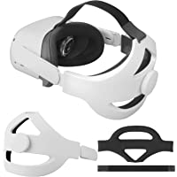Eyglo 可调节精英表带适用于 Oculus Quest 2 头带,增强支撑,减少头部压力,舒适触感(白色适合 Que…