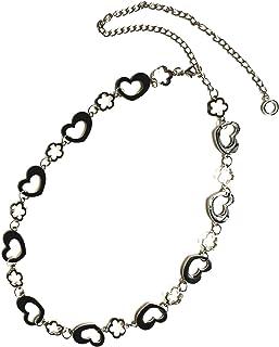 Torostra 心形金属腰带,适合礼服,时尚女式金属腰带腰带腰带,适合派对 - 心形花