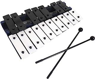 专业深蓝色木制钟琴木琴,带 17 个金属钥匙,适合成人和儿童使用 - 包括 2 个木制搅拌棒