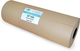 IDL 包装 - KRAFT24-30 大号棕色牛皮纸卷 60.96 厘米 x 250.88 厘米 - 天然牛皮纸包装纸 - 完美的牛皮纸无空填充 - 儿童艺术项目牛皮纸