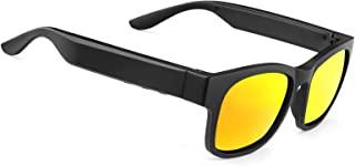 智能音频太阳镜偏光镜片 UV400 开放式耳塞蓝牙太阳镜扬声器聆听音乐拨打电话(A12Pro-Red)
