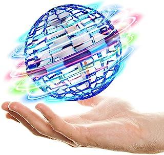 Flying Ball Toys【2021 *版】 Globe Shape Magic Controller 迷你无人机飞行玩具,飞翔的旋镖旋转器,用于社交活动的室内飞行玩具(蓝色)