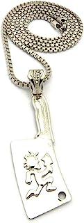 Shiny Jewelers USA 男士嘻哈风 Hatchet Man 吊坠魅力盒链项链