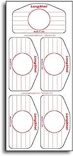 LongShot 高尔夫全通用铁冲击标签冲击标签包 - 500 个通用铁标签