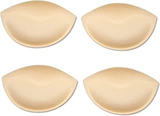 LISM 文胸垫插入聚拢泳衣插入胸垫可拆卸 2 件装 米色