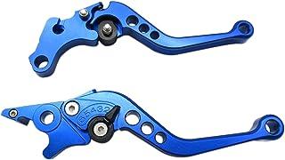 Gxcdizx 新款蓝色 CNC6 位置短制动离合器杆适用于 Triumph Street Triple 675/R mit Radialp 2008 2009 2010