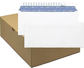 信封自封 - *信封 #10 - 标准尺寸商务信封 4-1/8 x 9-1/2 英寸,500 个,无窗口,空白白色信封,优质 22 磅纸