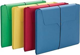 Smead Section Wallet,2 个隔层,带弹性扣,信函尺寸,多色,每包 4 个 (77213)