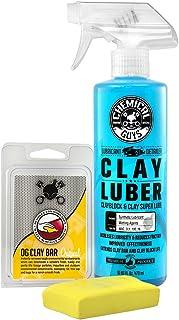 Chemical Guys CLY_113 OG Clay Bar & Luber 合成润滑清洗液套装,轻/中型,16盎司(约473.12 毫升),2瓶